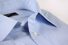 Blue Check Business Shirt stock images
