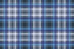 Blue check fabric texture diagonal seamless pattern Stock Image