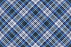 Blue check fabric texture diagonal seamless pattern Royalty Free Stock Images