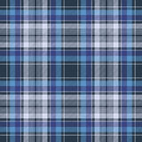 Blue check fabric texture diagonal seamless pattern. Vector illustration Royalty Free Stock Image
