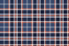Blue check fabric texture pixel seamless pattern. Vector illustration Royalty Free Stock Photography