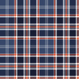 Blue check fabric texture pixel seamless pattern. Vector illustration Royalty Free Stock Photo