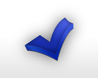 Blue check mark Stock Photography
