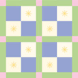 Blue Check Pattern. Blue checked quiltlike pattern royalty free illustration