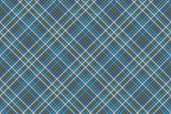 Blue check plaid fabric texture textile seamless pattern Stock Images