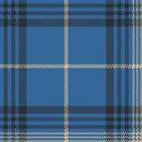 Blue check plaid tartan seamless pattern. Vector illustration Royalty Free Stock Photo