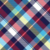 Blue check seamless pattern fabric textile. Vector illustration Royalty Free Stock Photo