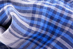 Blue check textile Royalty Free Stock Photography