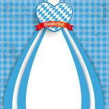 Blue Checked Cloth Oktoberfest Heart Royalty Free Stock Photos