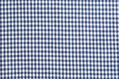 Blue checked clothes fabric texture Royalty Free Stock Photo