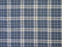 Blue checked fabric Royalty Free Stock Photo