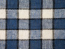 Blue checked fabric Royalty Free Stock Photos