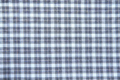 Blue checked fabric Stock Photos