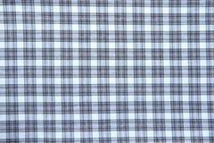 Blue checked fabric Stock Photos