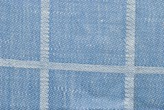 Blue checked fabric background or texture Stock Photography