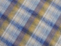 Blue checked fabric texture Royalty Free Stock Photography