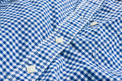 Blue checked shirt Royalty Free Stock Images