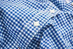 Blue checked shirt Stock Image