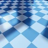 Blue checker board. 3d illustration, blue checker board Stock Photography