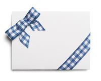 Blue Checker Invitation Stock Images