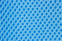 Blue checkered abstract background fabric Stock Photography