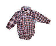 Blue checkered boy shirt Stock Image