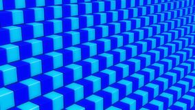 Blue Checkered Cubes in 3D Background royalty free stock photography