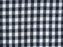 Blue checkered fabric Royalty Free Stock Images