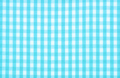 Blue checkered fabric Royalty Free Stock Image