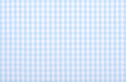 Blue checkered fabric. Light blue checkered fabric closeup , tablecloth texture Royalty Free Stock Photos