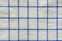 Blue checkered fabric Royalty Free Stock Photos