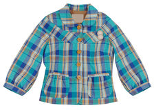 Blue checkered jacket Stock Photo