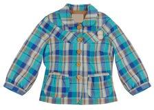 blue checkered jacket Stock Photo