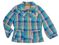 Blue checkered jacket Royalty Free Stock Image
