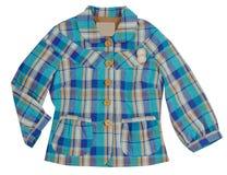 Blue checkered jacket Royalty Free Stock Image