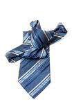 Blue checkered man's necktie Stock Photo