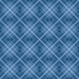 Blue checkered seamless pattern repeat Royalty Free Stock Photos