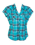 Blue checkered shirt Royalty Free Stock Photos