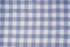 Blue checkered tablecloth background Stock Photos