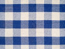 Blue checkered tablecloth Royalty Free Stock Photos