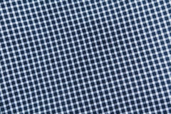 Blue checkered tablecloth Stock Photography