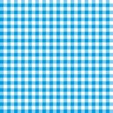 Blue checkered tablecloths patterns. Stock Photos