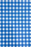 Blue checkered or tartan background. Stock Photography