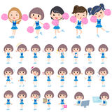 Blue Cheerleader Stock Images