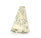 Blue cheese. On a white background stock photography