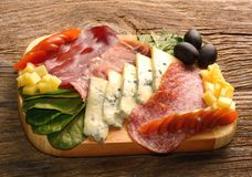 Free Blue Cheese And Cold Meat Platter Royalty Free Stock Image - 109773946