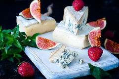 Blue Cheese And Sweet Fruit Figs Stock Photo