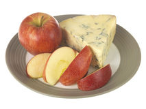 Blue Cheese with Apple Stock Photography