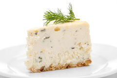 Blue Cheese Cheesecake Royalty Free Stock Images
