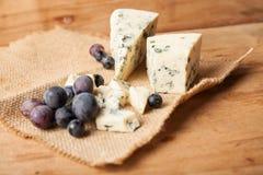 Blue cheese close up Stock Photos